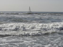 Venice Beach, ocean, sailboat by angelstar22