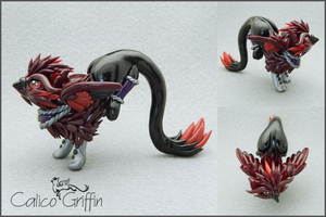 Loco the royal griffin - polymer clay by CalicoGriffin