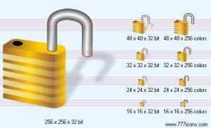 Open lock with shadow Icon by jpeger