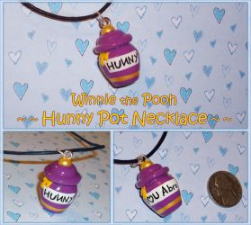Winnie the Pooh - Hunny Pot Necklace Jar of Honey by YellerCrakka
