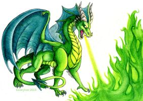 All Green Dragon by kookybat