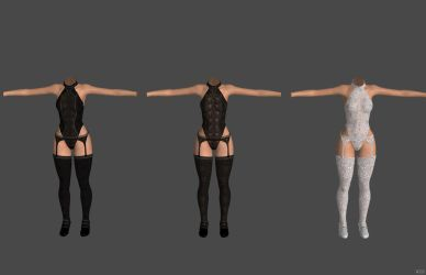 'Oblivion' Bodysuit And Garter XPS ONLY!!! by lezisell