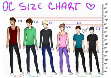 OC Size Chart! by oh-no-Castiel