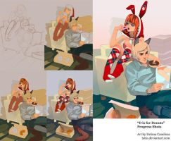 Process: D is for Donuts by taho