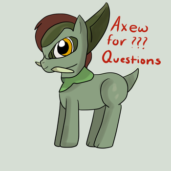 Axew for ???? Questions by AskPonyMacau
