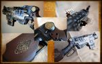 Nerf Slingfire, Celtic Steampunk with Lights by KillingjarStudios