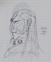 Old Man Face Pencils by tanis