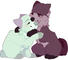 wolf hug by ellieSDF