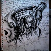 Skull, engine, and organs by dvs-00