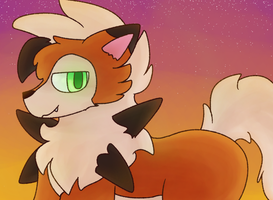Dusk Lycanroc by Flommo