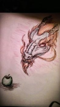 The Dragon and the Apple by swahiligiant