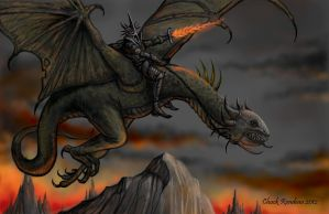 Flight of the Witch King- Nazgul by ChuckRondeau