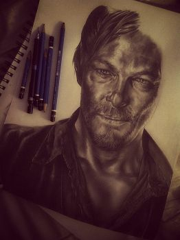 WIP: Daryl Dixon - The Walking Dead by R-becca
