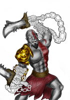 Kratos - God of War by BouncieD