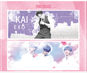 [SHARE PSD] 01! Chanyeol and Kai by KinderByuno