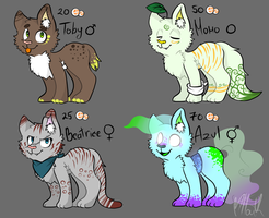 .: CAT ADOPTABLES :. (OPEN) by MikaMilaCat