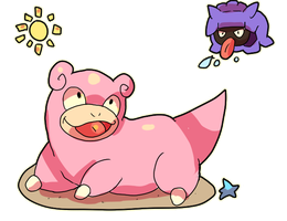 Beach Slowpoke by LizardonEievui13