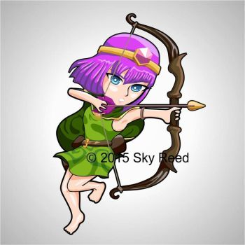 Clash of Clans - Archer Chibi by sky00reed