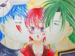 Yona cheek kiss by CrystalMelody-FT