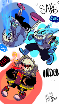 Sans's AU versions by chilica