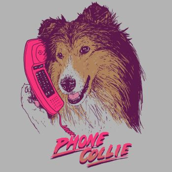 Phone Collie by HillaryWhiteRabbit
