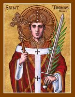 St. Thomas Becket icon by Theophilia