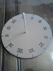 Solar Clock - Son's School Project by mieame