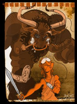 Theseus and the Minotaur - 01 by Themrock