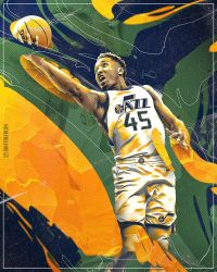 Skythlee 10 2 Donovan Mitchell NBA Wallpaper Poster By