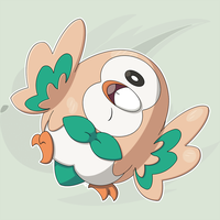 Card Art: Rowlet by RaiZhuW-The-Real