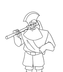 Executioner transformation animation - lines by gnomKOLIN