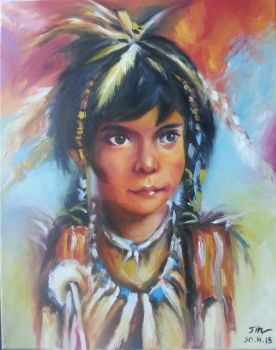 Red Indian girl by jin2901