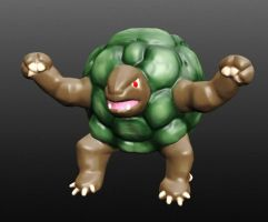 Digital Sculpture - Golem Pokemon