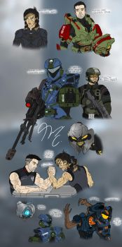 Halo Ammunition Sketches Page 1 by Guyver89