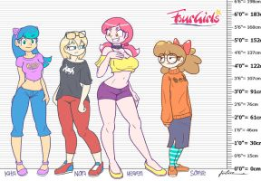 4Girls Concept Height Chart by Furboz