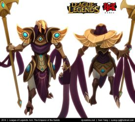 League of Legends: Azir, The Emperor of the Sands by cg-sammu