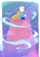 Adventure time - jake and finn by LaWeyD