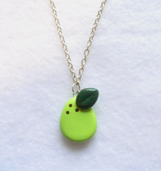 Green Pear Necklace by MariposaMiniatures