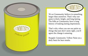 Community Yellow Paint by lonnietaylor