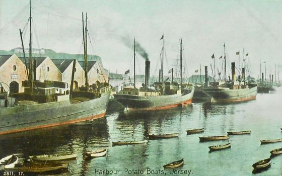 Vintage European Postcards - Jersey Potato Boats by Yesterdays-Paper