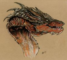 Smaug by WretchedSpawn2012