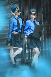 So you've come to, Inmate. (Caroline and Justine) by xXDarkSanctuaryXx