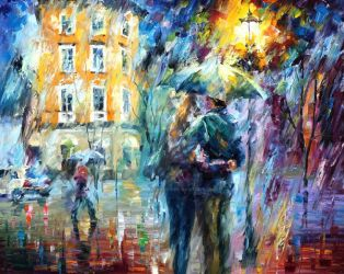 City Rain by Leonid Afremov by Leonidafremov