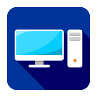 Flat PC icon by ivprogrammer