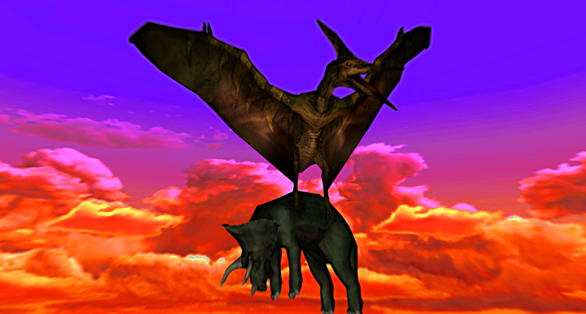 MMD Newcomer Primal Pterodon + DL by Valforwing