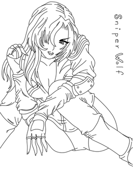Line art for Princess-Elincia by Shadz-the-Fox