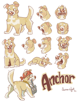 Anchor the Pirate Dog by colonel-strawberry