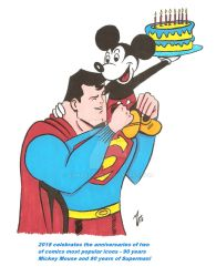Mickey Mouse and Superman Tribute by zombiegoon