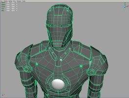 Iron Man Gray Wireframe by parka