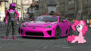Pinkie Pie and her LFA with her co-tame driver 2 by nestordc